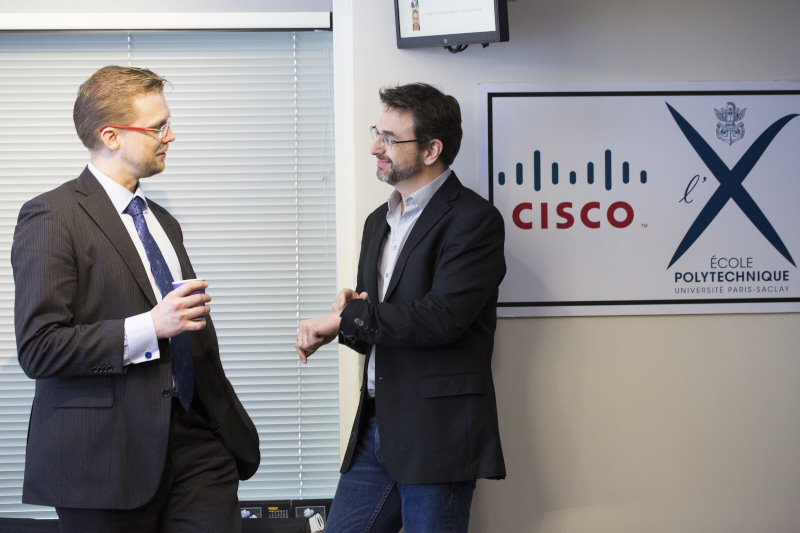 Thomas Clausen (left, Ecole Polytechnique) and Mark Townsley (Cisco and Ecole Polytechnique)