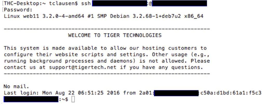 IPv6 login
