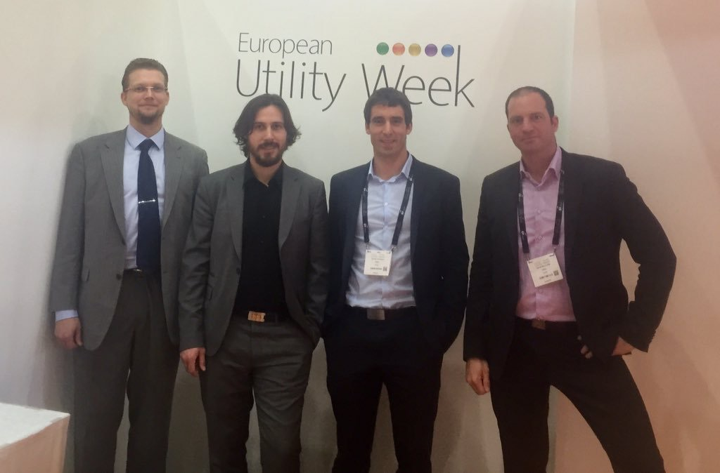 Thomas Clausen, Cedric Lavenu, Damien Dufresne, and Xavier Montuelle representing SOGRID at EUW2015