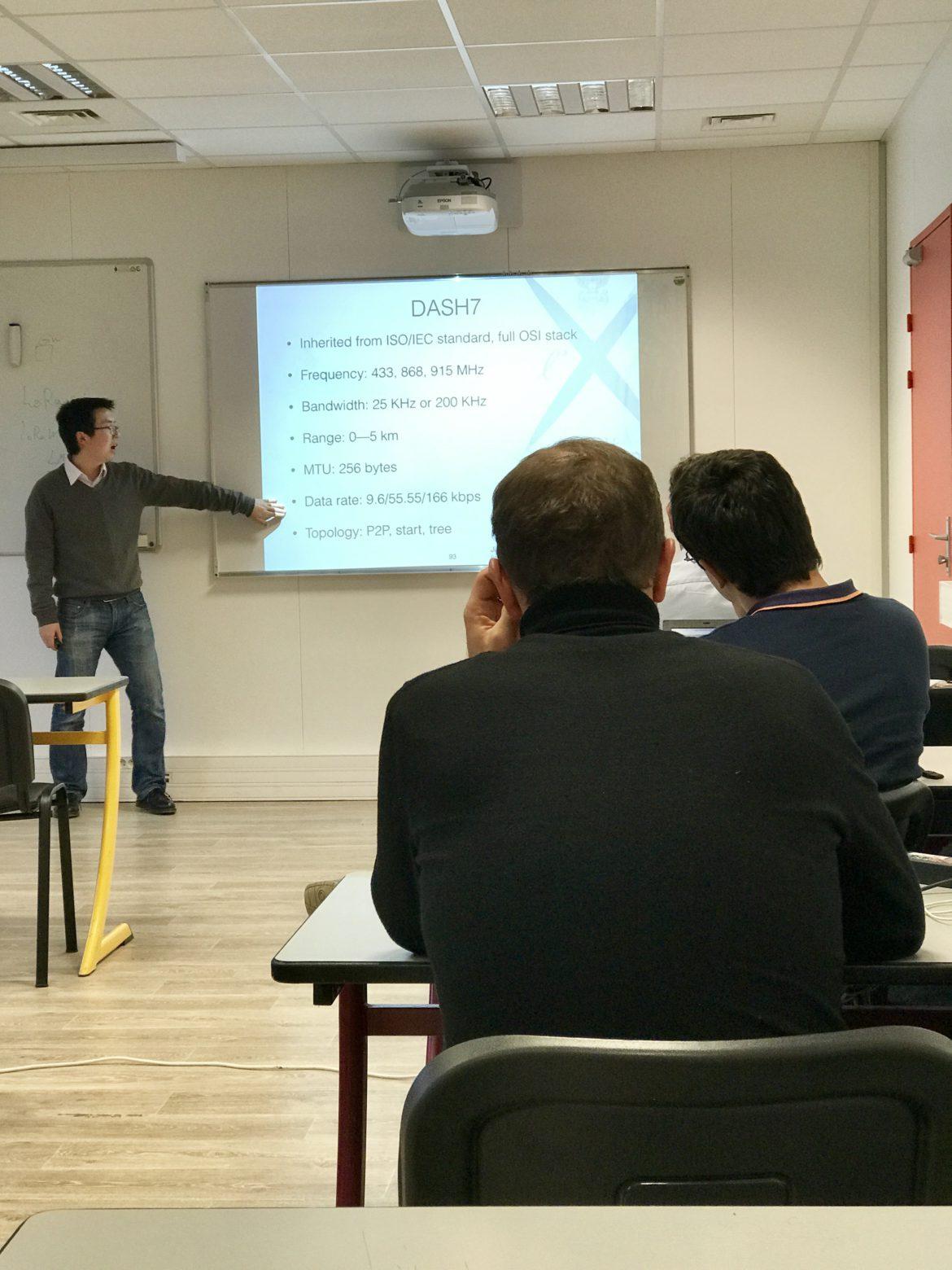 Jiazi Yi teaching IoT at Polytechnique Executive Education