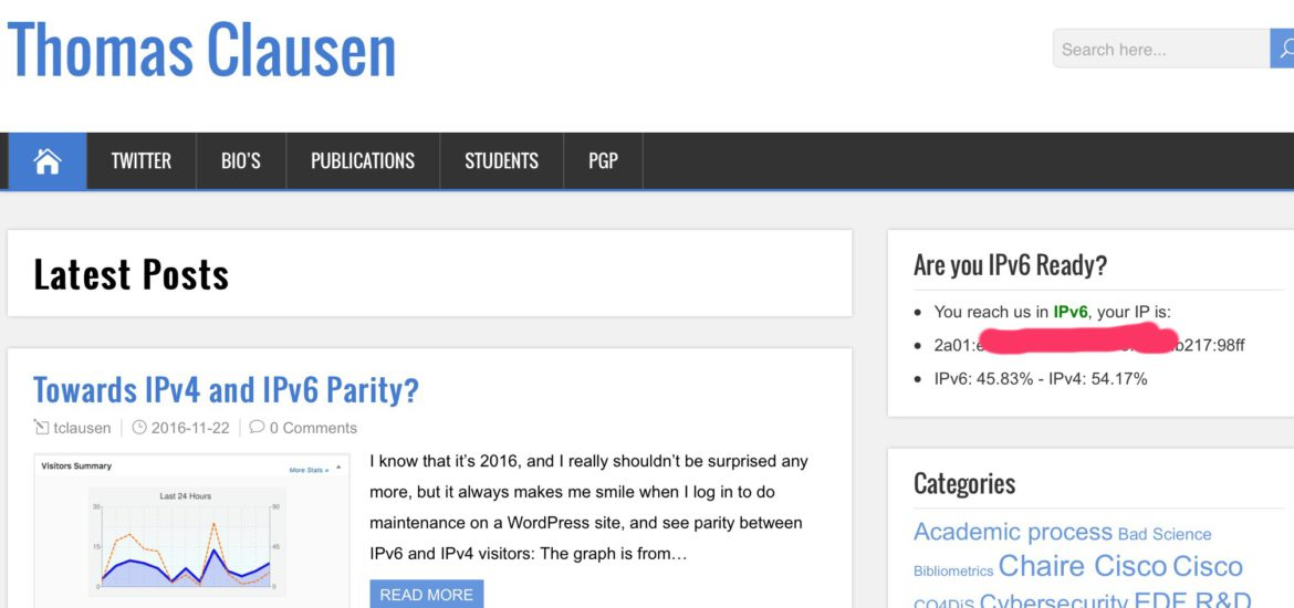 IPv6-IPv4 Parity - come on you remaining 54% ;)