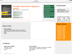 Bentham Open Open Cybernetics & Systemics Journal Editors