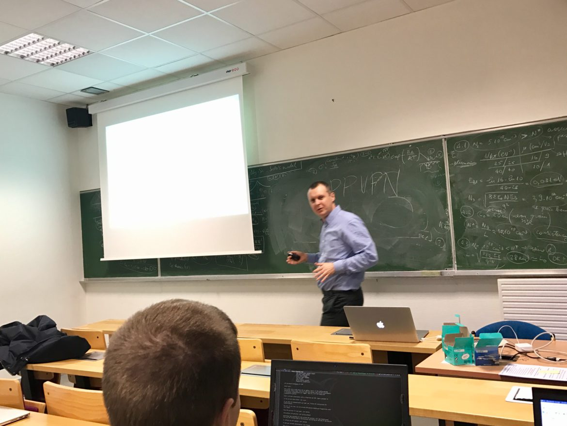 Jean-Louis Rougier teaching Protocol Success for X14 & M1-ACN students