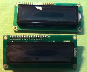 Two 1602 LCD Modules - Front