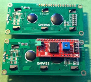 Two 1602 LCD Modules - Back